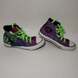 Kids size 12 hi top converse purple Hey Girl Kicks